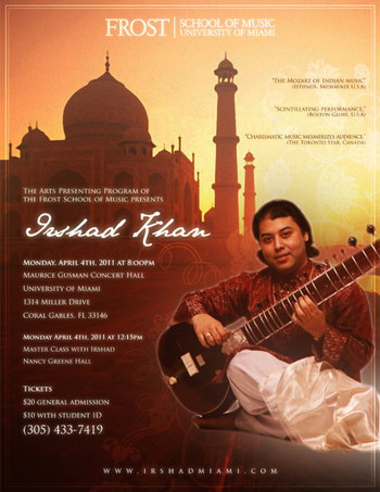 Irshad Khan Frost School of Music